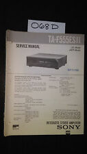 Sony TA-F555ES II 2 Service Manual original repair book stereo amp amplifier