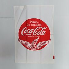 "Coca-Cola ""Pause... Go Refreshed"" Dishtowel - BRAND NEW"