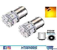 2 Ampoules BAu15s PY21W Phare avant arriere CLIGNOTANT ORANGE 13 SMD 12V