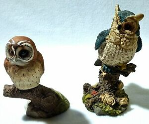 Owl Collection:   2 x Ceramic Owl Ornaments