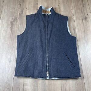 Loro Piana Men's Reversible Full Zip Vest Size L Large