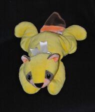 Peluche doudou raton laveur castor TY 1998 jaune brun orange 45 cm allongé TTBE