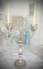Event Table Display Ornate Candelabra Silver Centre Piece Candle Holder Birthday