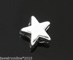 200 Antiksilber Stern Spacer Perlen Zwischenperlen zum Basteln 6x6mm