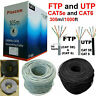 305M RJ45 Cat6 Cat5e Network Ethernet FTP/UTP OUTDOOR Roll Reel Cable Modem LOT