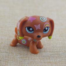LPS Littlest Pet Shop Rare DACHSHUND Blue Eyes Dog Printing Figure #1010 Toys