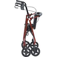 EX-DISPLAY Red Rollator Lightweight Adjustable Aluminium Walking Frame-4 Wheels
