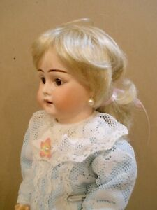 """Antique 16 1/2"""" unmarked French socket head doll, original body"""