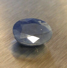 4.10CT  NATURAL BLUE SAPPHIRE GEMSTONE OVAL CUT 10.6X7.75X4.67