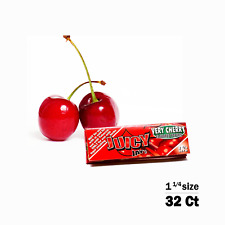 Juicy Jay's Cherry Flavored 1 1/4 Size Rolling Papers 32ct, Raw, Elements