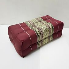 Thai Cotton Pillow Bolster Cushion Headrest Kapok 100% Handmade Thai Design # 1