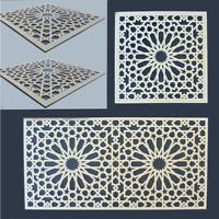 Dekorpaneel Marokko Holz - Wandtattoo Holz Ornament Verzierung Dekoration Orient