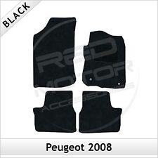 PEUGEOT 2008 2013 in poi completamente montato su misura tappetini auto moquette nera