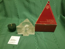 Avon Glistening Tree Clearfire Transparent Fragrance Green Candle 1981 New Box