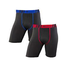 4 Champion Men's Tech Performance Long Leg Boxer Briefs CHTLA1 L Black/black