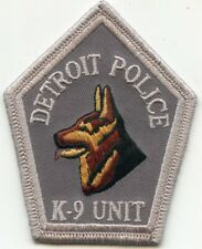 DETROIT MICHIGAN MI Gray Background K-9 POLICE PATCH