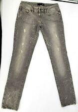 Just Cavalli Ittierre 28 W 34 I Mens 31 49 Gray Distressed Skinny Leg Jean Denim