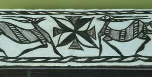 African vintage Korhogo cloth wall hanging of Springboks