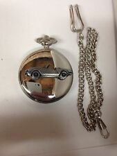 Triumph Spitfire 1500 ref260 emblem on polished silver case pocket watch