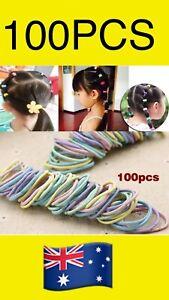 100pcs Elastic Rope Little Baby Girls Kids Hair Bands Rings Headwear ponytails