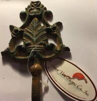 Cast Iron Leaf Pattern Towel Hanger Coat Hooks Hat Hook, Key Rack,Single Hook