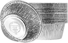 New listing 4.5'' Inch Round Tin Foil Pans Disposable Aluminum, Freezer & Oven Sa