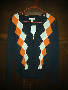 NWT.,WOMEN'S LADY HAGEN GOLF SWEATER, ARGYLE, SIZE SMALL, $55