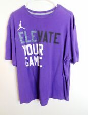 434dfc1a641c12 Nike Air Jordan Men s Cement Retro Shirt Purple Elevate Your Game 2XL