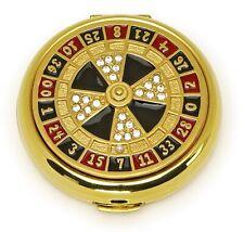 """Estee Lauder Powder Compact 1996 """"Roulette Wheel"""" Mint Condition"""