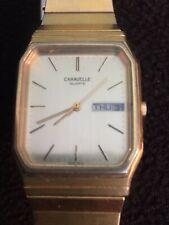 caravelle watch mens Quartz Day/date Gold Tone