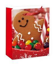 Lebkuchen Weihnachtsgeschenk Tasche Band Griffe Beutel 32 X 26 CM
