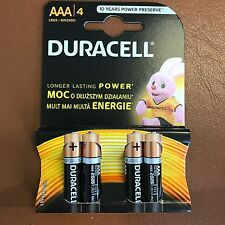 DURACELL AAA Batterie Alcaline 1.5v lr03/mn2400 - Confezione da 4 più duraturo di potenza