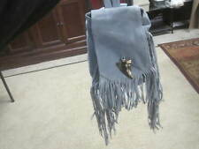 River Island Blue Turquoise Suede Leather Tassle Backpack Handbag Purse