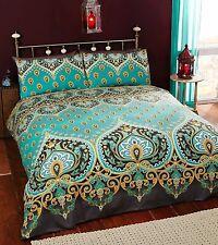 Rapport Asha Emerald Duvet Cover Vintage Asian Indian Teal / Green Bedding Set