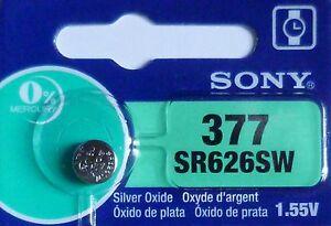 1 PILE SR626SW / SR626 / 377 / 1,55V SONY / ENVOI RAPIDE