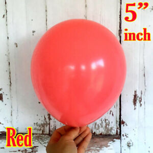 """5""""inch Small Round Latex Best 100 Balloons Quality Standard Red Color baloon"""