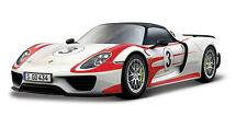 Bburago 1:24 Porsche 918 Weissach Racing Car Vehicle Diecast Model New in Box