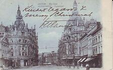 Belgium Anvers Antwerpen - Rue Leys undivided back used postcard