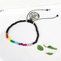 6f4e214b43d7b8 Fashion 12 Constellation Lucky Stone 3mm Beads Bracelet Boho Chakra  Bracelets