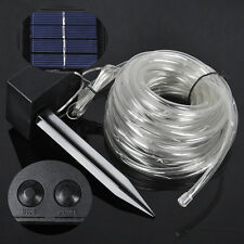 RGB 40ft Solar Rope Tube 100 LED Fairy String Garden Light Inside/Outside 1800MA