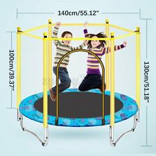 3.9/4.5FT Mini Trampoline Set Enclosure Safety Net Outdoor Indoor Kids Toy Play