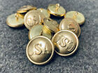 "Внешний вид - 7/8"" Civil War - Brass ""CSA"" Confederate buttons, Frock Lot of 11 - Large NEW"