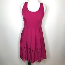 Brixon Ivy Dress Size Large Laser Cut Pleated Keyhole Back Sleeveless