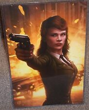 Agent Peggy Carter Hayley Atwell Glossy Art Print 11 x 17 In Hard Plastic Sleeve