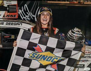 HAILEE DEEGAN Signed Autograph 11x14 Photo Racing JSA Sunoco first win
