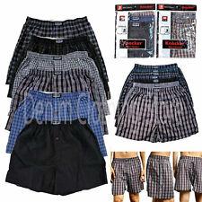 3 6 12 Pack Lot Men's Premium Boxer Underwear Plaid Shorts Briefs Trunk Cotton