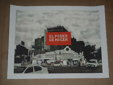 Evan Hecox El Poder De Hacer Mexico City signed poster art print sold out