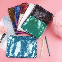 Reversible Mermaid Sequins Bag Pencil Case Makeup Pouch Glitter Handbag
