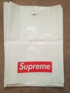 Authentic Supreme Plastic Retail Bag Bogo (Various sizes)