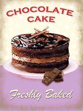 Chocolate Cake Sign/Plaque Metal Door Sign Home Kitchen Food Cooking